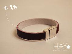 Subtiele armband | Bordeaux rood