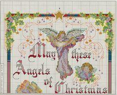 Professione Donna: Schemi per il punto croce: Pannello con gli angeli di Natale