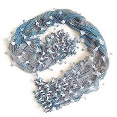 Bubble dot shibori scarf