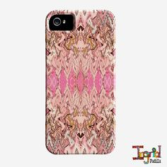 Pink iPhone 4 Case,  iPhone 5 Case, Delilah, Funky, Abstract Art, phone cases, by Ingrid Padilla, iPhone 5S case, iphone 6
