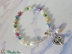 Colorful - színes tenyésztett gyöngy karkötő (desiredesign) - Meska.hu