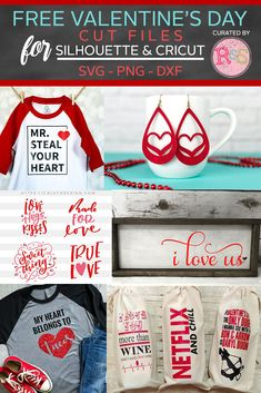 Free SVG Cut Files For Valentine's Day Curated By Ready Set Silhouette day crafts to sell cricut Free SVG Cut Files For Valentine's Day — Ready Set Silhouette Valentines Day Shirts, Valentines Diy, Thing 1, Free Svg Cut Files, Silhouette Files, Free Silhouette, Cricut Creations, Mason Jar Diy, Svg Cuts