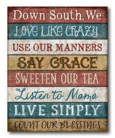 'Down South' Wrapped Canvas #zulily #zulilyfinds
