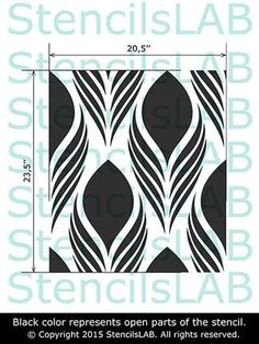 Decorative Floral Pattern Stencil - Wall Stencil - Reussable Stencil For Walls