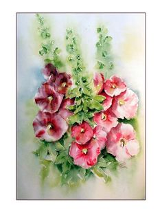 """""""Alle Bilder sind originale Aquarelle auf hochwertigen Baumwolle-Aquarellpapier mit exzellenten lichtbeständigen Farben gemalt."""""""