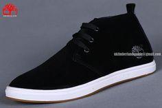 Timberland Men's Basic Waterproof Chukka Black White Fashion Sneaker $76.00