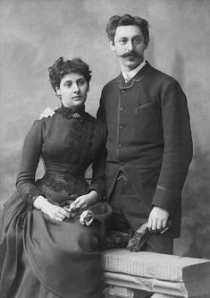 Anne's grandparents on her fathers side , Alice and Michael,shortly before there wedding in 1886. Alice fled to Basel in 1933