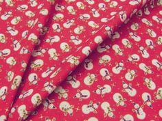 スノーマンのクリスマス調プリント 110cm巾 綿100% - そーいんぐ・すていしょん コミニカ