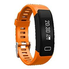 Fitness Tracker Watch,IVSO Bluetooth Smart Bracelet OLED Waterproof Fitness Tracker Heart Rate Monitor Pedometer Smart Wristband Band for Android and iOS SmartPhone Orange - smart bracelet fitness tracker watches - Women's Running Gad Fitness Tracker Reviews, Best Fitness Tracker, Waterproof Fitness Tracker, Running Workouts, Workout Gear, Fun Workouts, Fitness Gifts, Mens Fitness, Best Fitness Watch