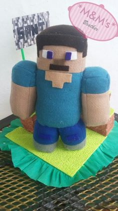 Peluche de Minecraf #Minecraft #peluche #plush #fieltro #feltro #pañoLenci #juguete #Diy #Steve