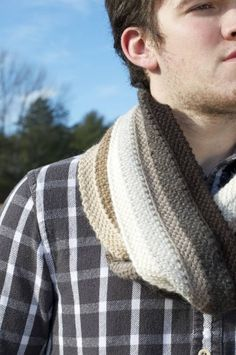 Berzelius Crochet Scarf - Designed as Tunisian Crochet, but using a standard hook. Idk what they mean by standard hook but this is a nice scarf for men. I don't know if my manly man would wear a scarf.