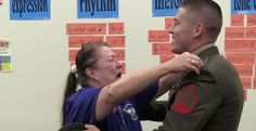 U.S. Marine sergeantPaul Riggs wasstationed in Japan for nearly 3 years and hadn't seen his mother in 2 years. That's why he decided to fly home and s…