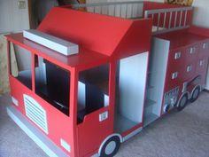 Firetruck bed, so fun! design by Spots-4-tots, LLC.