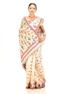 Muga sarees are woven in muga silk, which is available only in Assam, India.All muga silk sarees have just one colour- a natural shimmery golden beige colour
