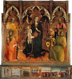 Sassetta, The Virgin and Child with Saints, 1430-32, Galleria degli Uffizi, Florence