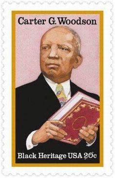 African American Stamps | USPS Carter G Woodson Black Heritage Stamp - 1983 © USPS. All Rights ...