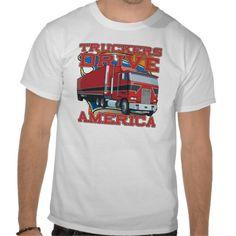 Truckers Drive America Tee Shirt