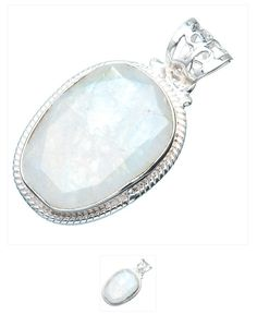 Unique rainbow moonstone ,925 sterling silver pendant $30.00 at Bangles and Baubles on facebook, every purchase provides food and care for a homeless animal for a day