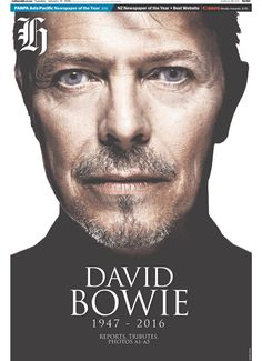 Tributes to David Bowie → García Media Iman And David Bowie, Ritchie Valens, Don Mclean, Best Clips, Buddy Holly, Newspaper Design, American Pie, Classic Songs, Favorite Person