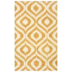 nuLOOM SPVE12B Gold Hand Tufted Savanna Ikat Lattice Area Rug