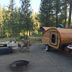 Camping in Spokane, WA.  Riverside State Park.  My new teardrop camper is doing great!
