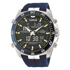 LNP RW617AX9 Lorus Gents Dual Display Alarm Chronograph Resin Strap Watch