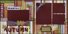Scrapbooking for Others: Autumn Pre-made Scrapbook Layout