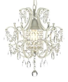 Look what I found on #zulily! White Crystal Chandelier by Gallery Lighting #zulilyfinds