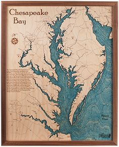 Chesapeake Bay   Nautical North they do amazing layered wood maps and charts, from affordable trays to full coffee tables...any locale...fantastic