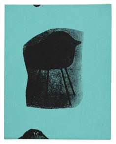 Andy Warhol Eames Chair Acrylic Silkscreen Painting on Canvas 1963 Stamped | eBay