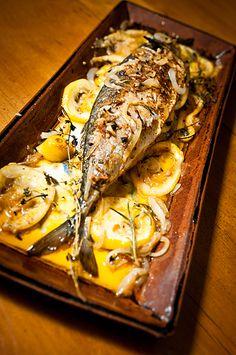 Roasted Mackerel w/ Lemon & Herb