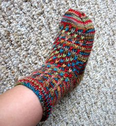 Free Knitting Pattern - Children's Socks & Booties: Raindrop Toddler Socks
