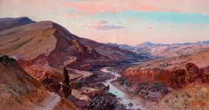 Peinture Algérie - Maxime NOIRÉ (1861-1927) La vallée de l'Abiod.