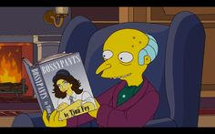 """The Simpsons are back, this time with two references in a single episode, one of classic literature and one of contemporary comedy. Or so I assume the latter is of contemporary comedy; I haven't actually read Tina Fey's Bossypants. But Mr. Burns has, as evidenced by this screenshot from """"Them, Robot,"""" the seventeenth episode of season 23."""