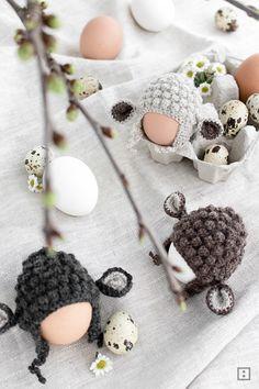 Anleitung Eierwärmer häkeln Schaf oder Osterlamm