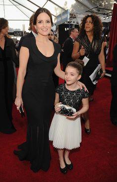 Tina Fey brought her mini-me daughter to the SAG Awards!