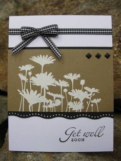 Today's technique challenge is silhouettes. Love this Upsy Daisy set. Thanks for looking!