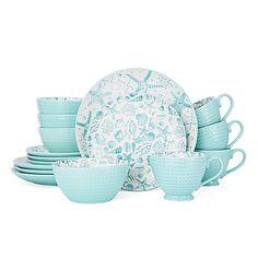 Pfaltzgraff® Venice 16-Piece Dinnerware Set in Teal