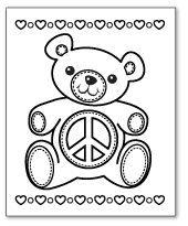 have a little fun with these peace sign coloring page printables