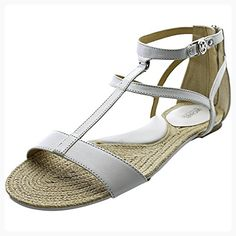 Michael Michael Kors Bria Flat Sandal Women US 6.5 White (*Partner Link)