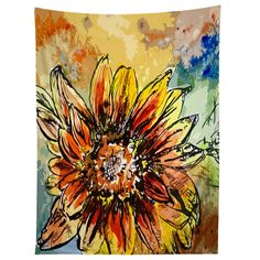 Ginette Fine Art Sunflower Moroccan Eyes Tapestry   DENY Designs Home Accessories