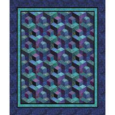 RJR Jinny Beyer Malam Batiks Orchid Crayon Box Quilt Kit 53 x 64 | Precuts