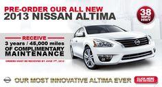 Pre-Order the NEW 2013 Nissan Altima!
