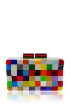Pixel Multicolor Clutch by Urania Gazelli for Preorder on Moda Operandi Paisley, Cute Bags, Beautiful Bags, My Bags, Evening Bags, Purses And Handbags, Fashion Bags, Bag Accessories, Bucket Bag
