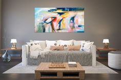Large Modern Wall Art Painting,Large Abstract wall art,bright painting art,xl abstract painting,living room wall art FY0047