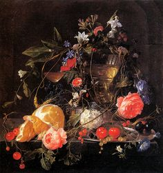 Still life with fruit and a jug of Wine | Jan Davidsz de Heem | oil painting  - Prices starting at $189