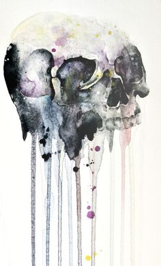 """skull"" Art Print by Jenny Viljaniemi on Society6."