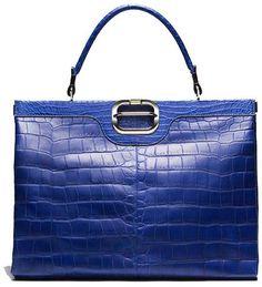 """Ines de La Fressange's favorite bag. """"Diligence"""" handbag by Roger Vivier."""
