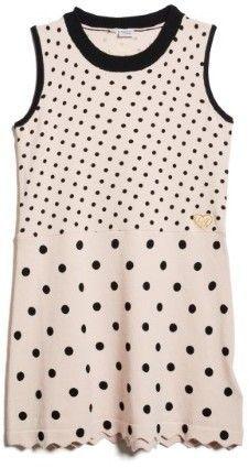 GUESS Girl's Polka Dot Sleeveless Sweater Dress (2-7)
