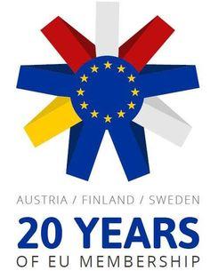 Austria, Finland, Sweden - 20 years in EU 20 Years, Finland, Austria, Sweden, Logos, Self, A Logo, Legos